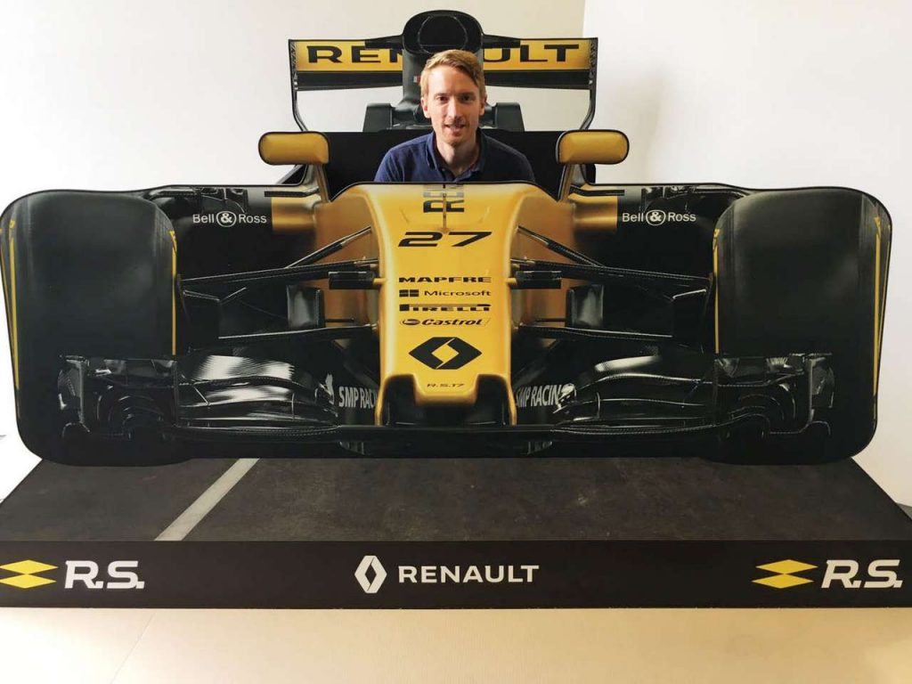 Renault F1 FSDU with person inside
